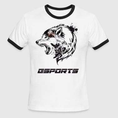Csgo Team esports wolf nerd computer game battle CS liquid - Men's Ringer T-Shirt