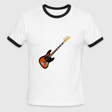 bass guitar music player - Men's Ringer T-Shirt