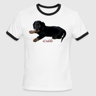 iCuddle LongHair Dachsund - Men's Ringer T-Shirt