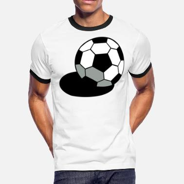 Peanuts Football SOCCER FOOTBALL BALL WITH A SHADOW - Men's Ringer T-Shirt