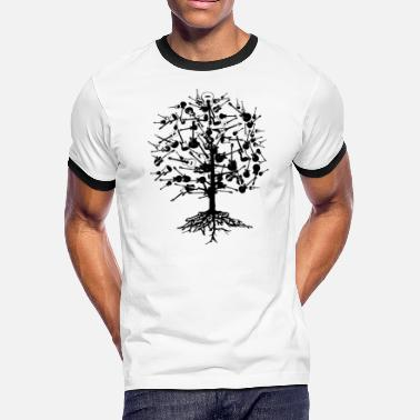 American Apparel Rock Music Guitars Tree American Apparel T-Shirt - Men's Ringer T-Shirt
