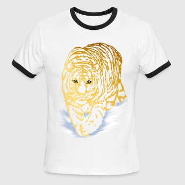 Snow Tiger Golden Snow Tiger - Men's Ringer T-Shirt