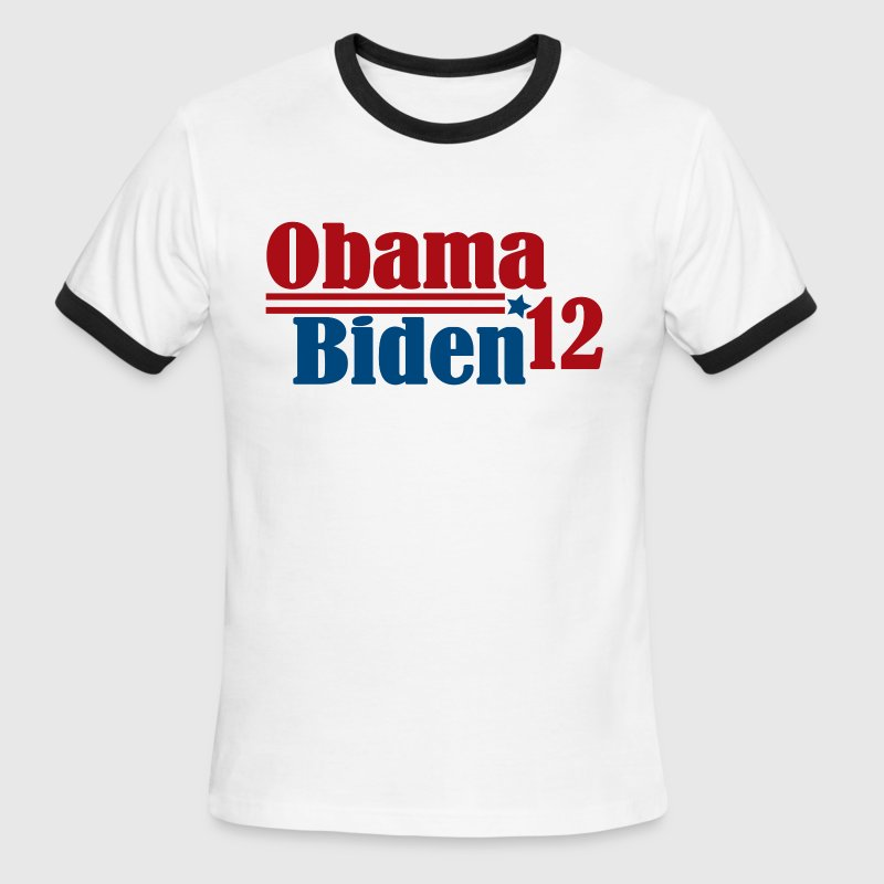Re-Elect Obama Biden 2012 - Men's Ringer T-Shirt