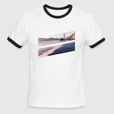 Golden Bridge Golden gate bridge - Men's Ringer T-Shirt