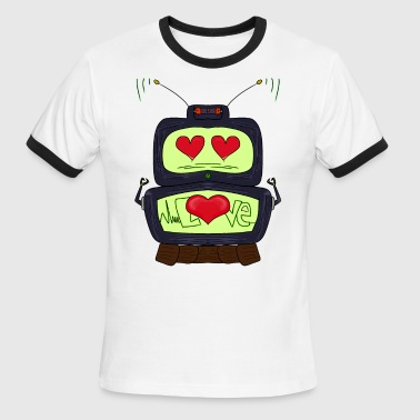 Love Robot robot love - Men's Ringer T-Shirt