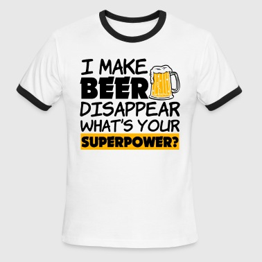I Make Beer Disappear - Men's Ringer T-Shirt