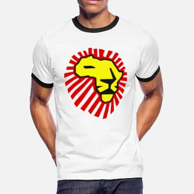 Waka Waka This Time For Africa Waka Waka Yellow Lion / Red Mane T-Shirt - Men's Ringer T-Shirt