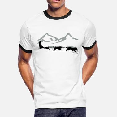 Sled Huskys - Sled Dog - Men's Ringer T-Shirt