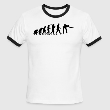 Pool Snooker Evolution of snooker or pool - Men's Ringer T-Shirt