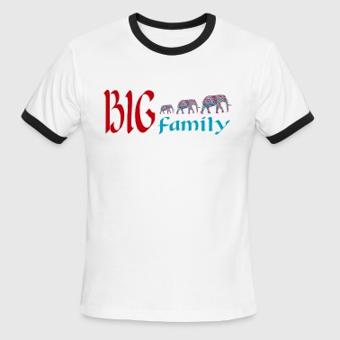 Elephants family - Men's Ringer T-Shirt