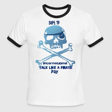 Talk Like A Pirate Crossbones - Men's Ringer T-Shirt