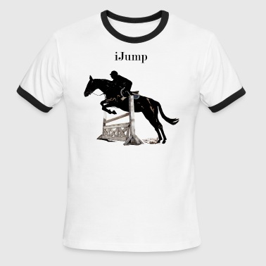 Fun iJump Equestrian Hors - Men's Ringer T-Shirt