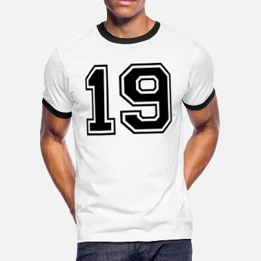 Number Sports sports number 19 - Men's Ringer T-Shirt