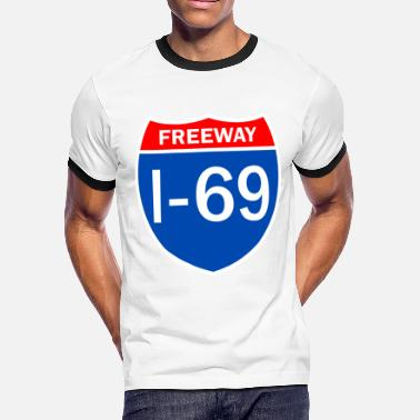 Interstate Freeway I 69 - Men's Ringer T-Shirt
