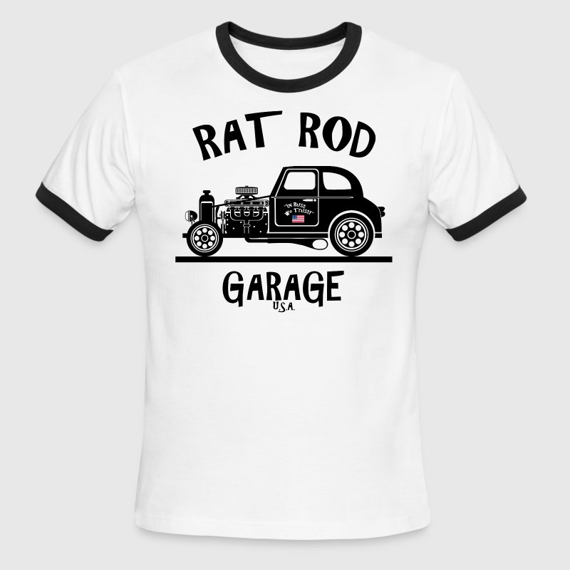RAT ROD Garage, USA! - Men's Ringer T-Shirt