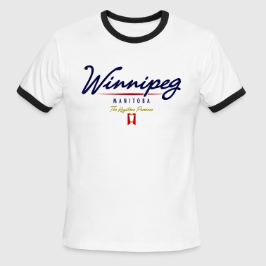 Winnipeg Script - Men's Ringer T-Shirt