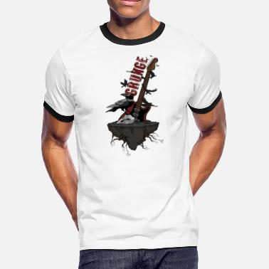 The Crow Music Grunge - Crow Guitar Music Undead Gift ideas - Men's Ringer T-Shirt