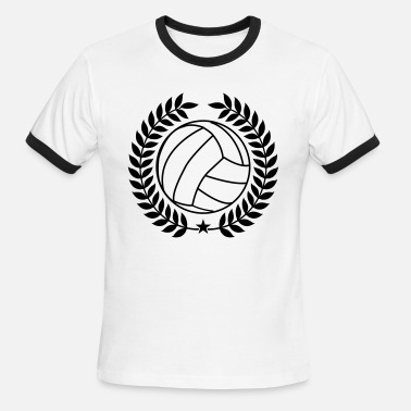Cool Volleyball Cool Vintage Volleyball for Teams - Men's Ringer T-Shirt
