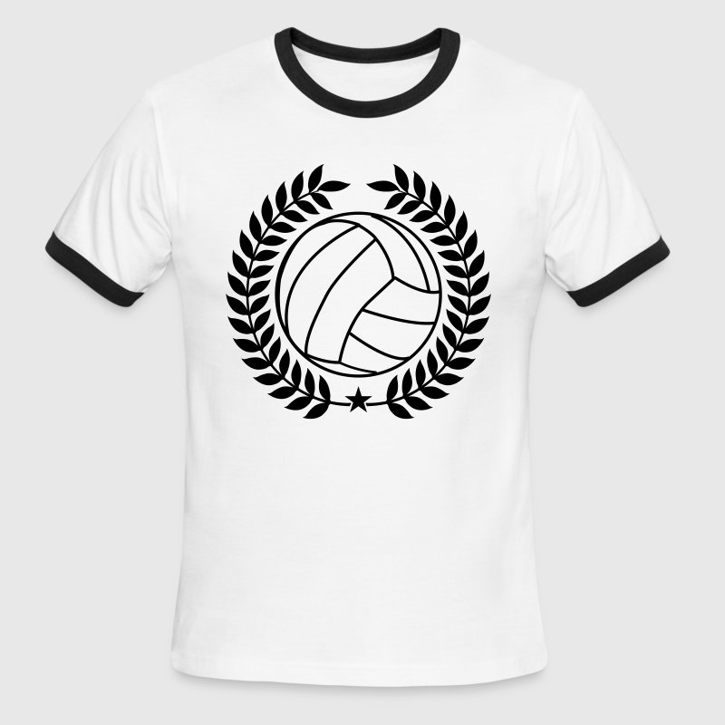 Cool Vintage Volleyball for Teams - Men's Ringer T-Shirt