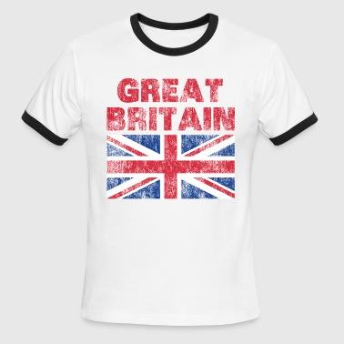 Great Britain Union Jack Distressed - Men's Ringer T-Shirt