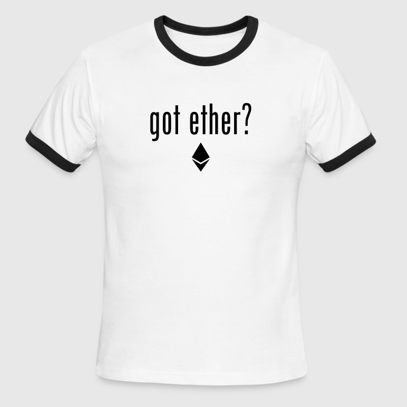 Got Ether? Ethereum Logo - Black - Men's Ringer T-Shirt