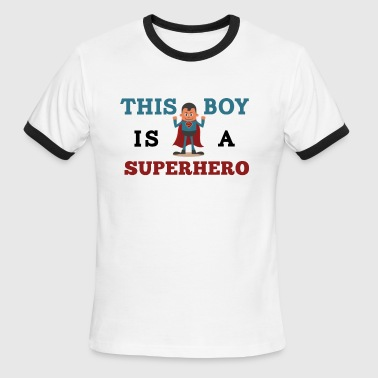 Kids Superhero Superhero - Men's Ringer T-Shirt