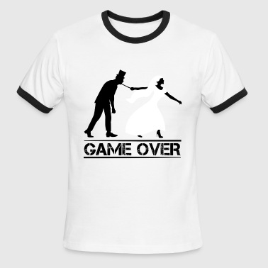 game over bride and groom wedding stag night - Men's Ringer T-Shirt