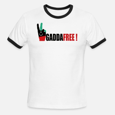 Hands Free Victory hand - Libya free from Gaddafi - Men's Ringer T-Shirt