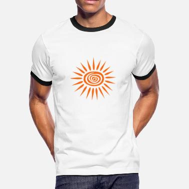Swirl Can't Nobody Stop My Shine With Big Sun, Circular, 2 Color - Men's Ringer T-Shirt