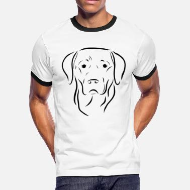 dog labrador drawing pet love animal - Men's Ringer T-Shirt