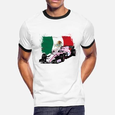 Sahara F1 Racecar - Mexico Flag - Men's Ringer T-Shirt