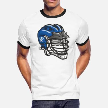 Fast Forward LaX Helmet Blue - Men's Ringer T-Shirt