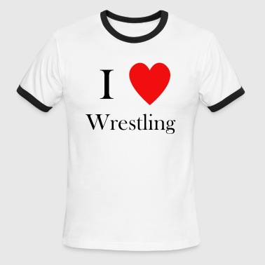 Wrestle Heart i love wrestling heart - Men's Ringer T-Shirt