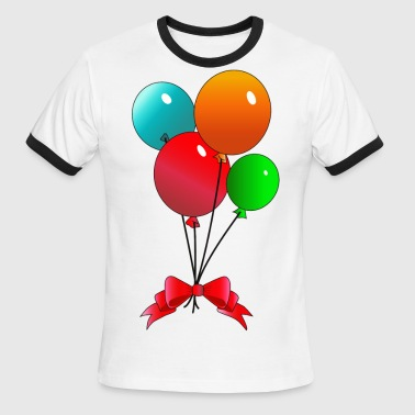 Balloon Couple Balloons - Men's Ringer T-Shirt