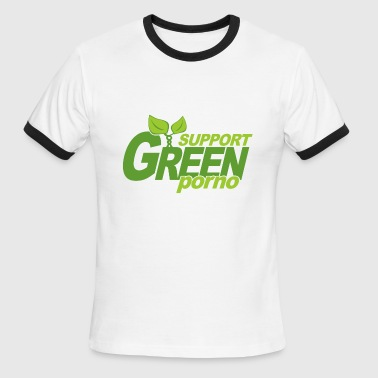 Support Green Porno - Men's Ringer T-Shirt