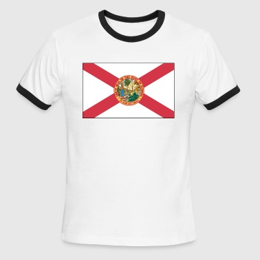 Florida Greats great seal of the state of florida t shirt - Men's Ringer T-Shirt