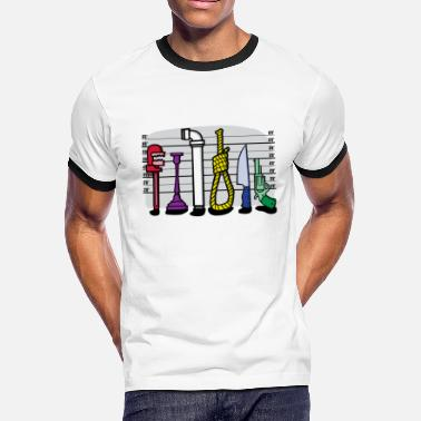 Clue The Usual Suspects - Men's Ringer T-Shirt