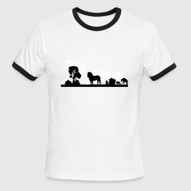 Léo Lion - Men's Ringer T-Shirt