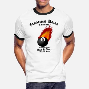 Grill Flaming Balls Tavern, Bar & Grill,  Dallas Texas - Men's Ringer T-Shirt