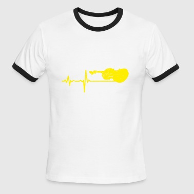 Violin Heartbeat gift heartbeat violin - Men's Ringer T-Shirt