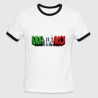 3d Football Camisa VIVA MEXICO EN 3D - Men's Ringer T-Shirt