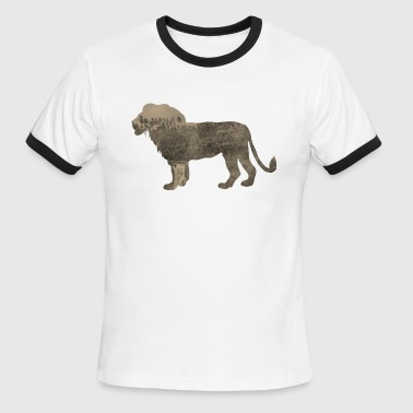 African Sportswear Silhouette Jungle Series Lion - Men's Ringer T-Shirt