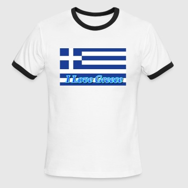 I love Greece - Men's Ringer T-Shirt