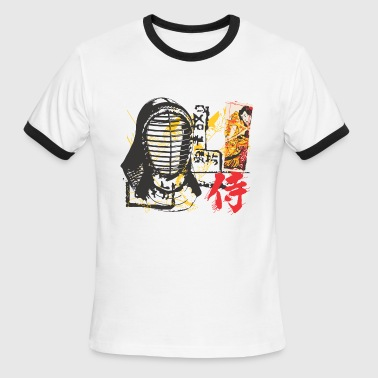 Samurai Mask Samurai mask - Men's Ringer T-Shirt
