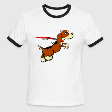 Leash Puppy on a leash - Men's Ringer T-Shirt