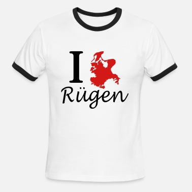 Rügen I love Ruegen - Men's Ringer T-Shirt