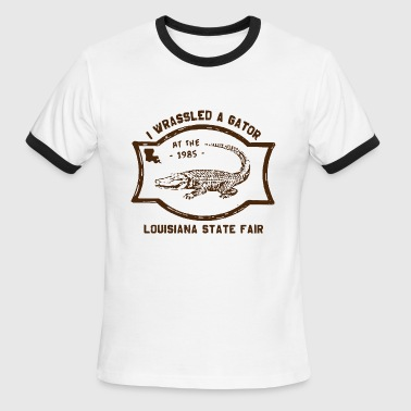 Alligator Gator Alligator Wrestling T Shirt Vintage Gator - Men's Ringer T-Shirt