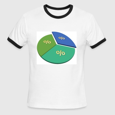 pie chart - Men's Ringer T-Shirt