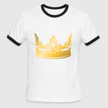 Gold King Crown king-vip-golden-crown-roya-gold-boss-logo-vector - Men's Ringer T-Shirt