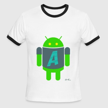 A for Android - Men's Ringer T-Shirt